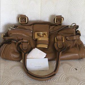 Chloe camel Paddington Bag